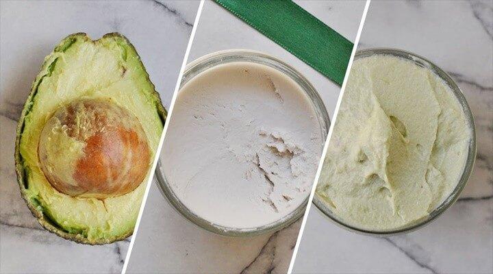 DIY Coconut Cream and Avocado Hair Mask