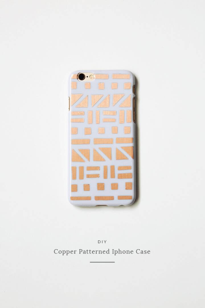 DIY Copper Patterned IPhone Case