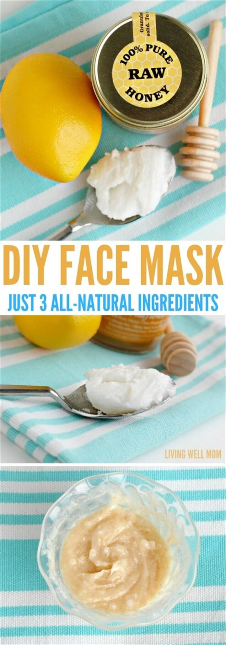 DIY Face Mask Just 3 All Natural Ingredients Collage