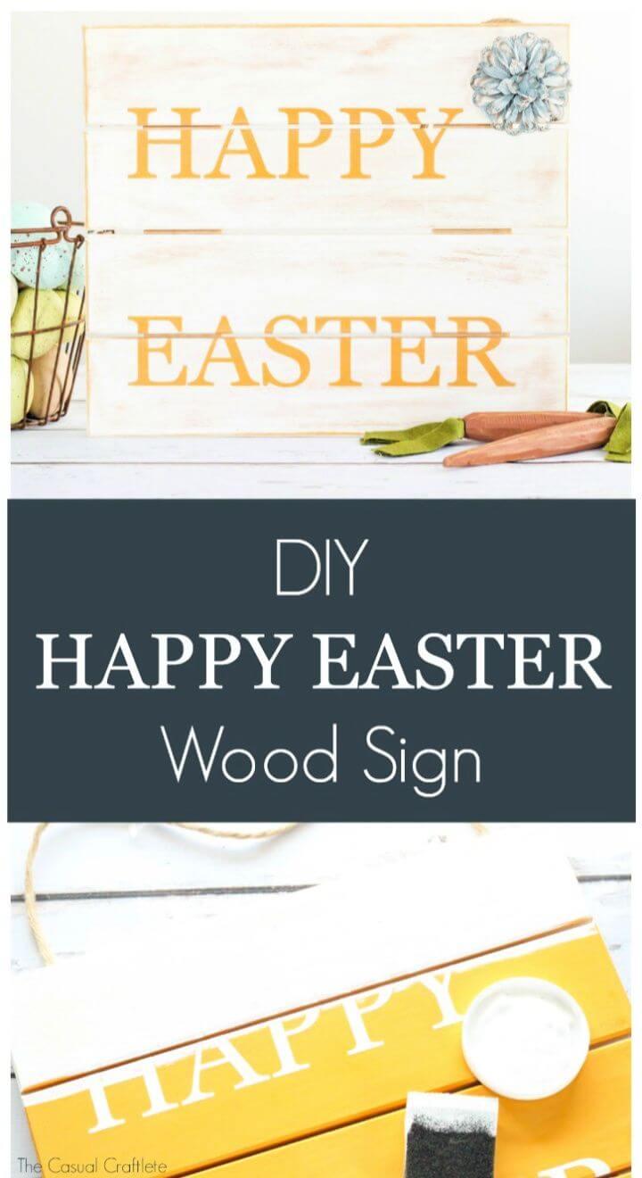DIY Happy Easter Wood Pallet Sign