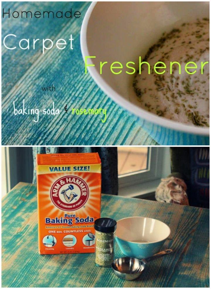 DIY Homemade Carpet Freshener Powder with Baking Soda