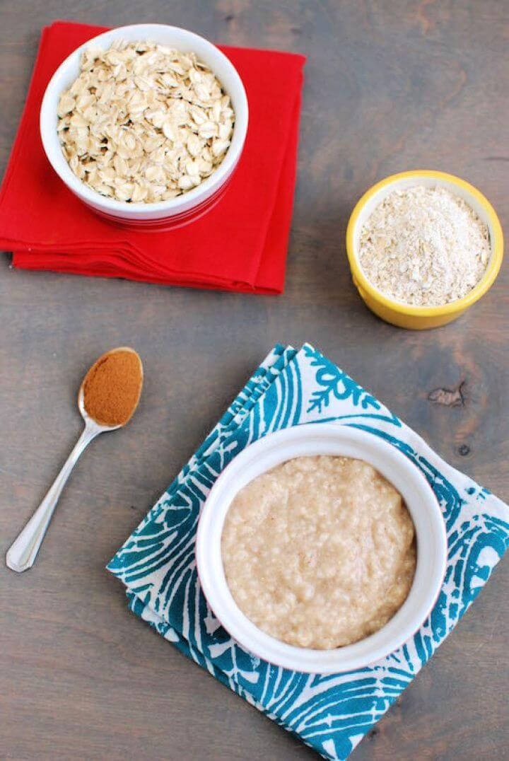 DIY Homemade Oat Cereal For Babies