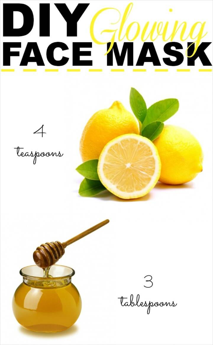 DIY Lemon And Honey Face Mask