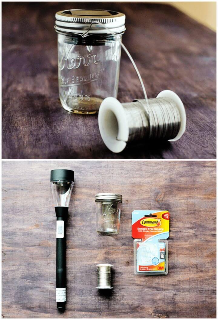 DIY Mason Jar Hanging Solar Lantern Tutorial