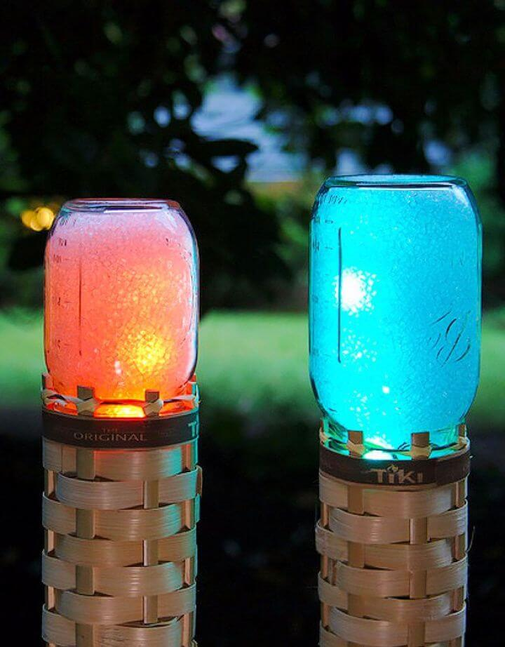 DIY Mason Jar Techno Tiki Torch Tutorial