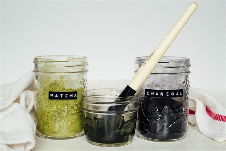 DIY Matcha Charcoal Face Mask