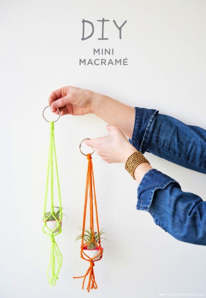 DIY Mini Macramé Plant Hangers