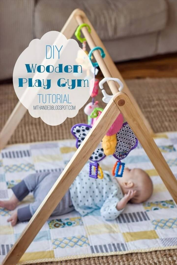 DIY Nursery Decor Wooden Baby Gym Easy Projects to Make for Baby Room
