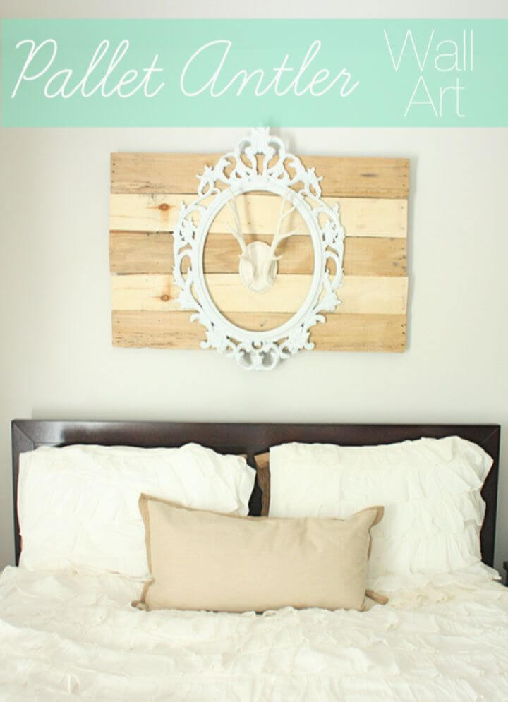DIY Pallet Antler Wall Art Tutorial