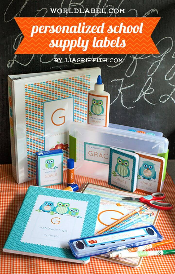 DIY Personalized School Supply Labels
