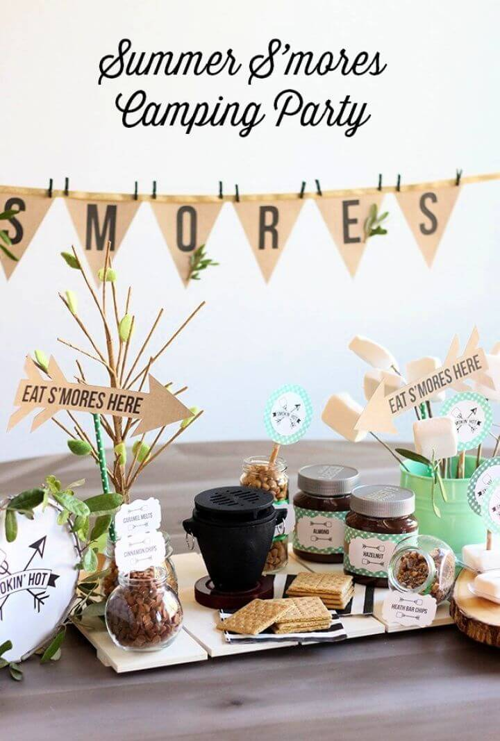 DIY S'mores Summer Camping Party