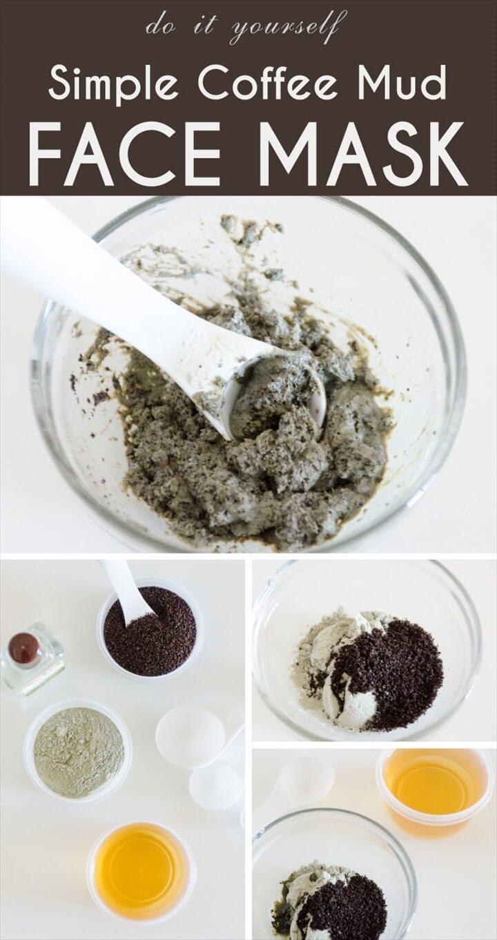 DIY Simple Coffee Mud Face Mas