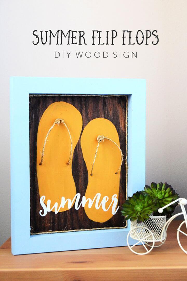 DIY Summer Flip Flops Sign At Crafts Unleashed
