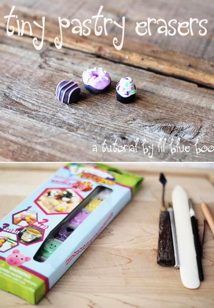 DIY Tiny Pastry Erasers