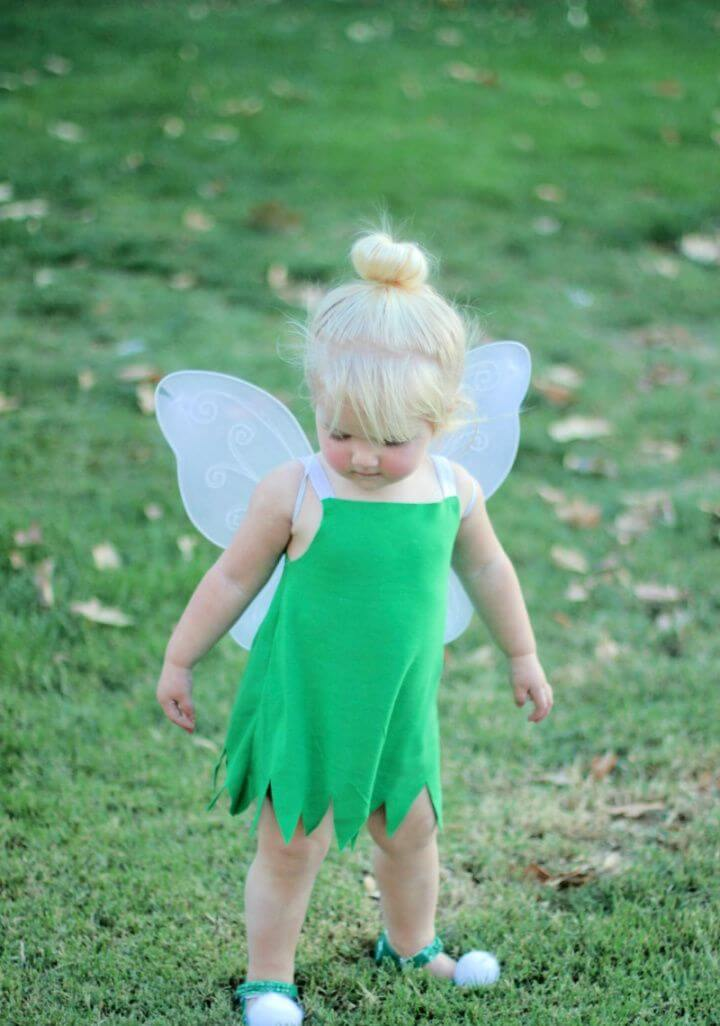 DIY Toddler Tinker Bell Costume and Hair