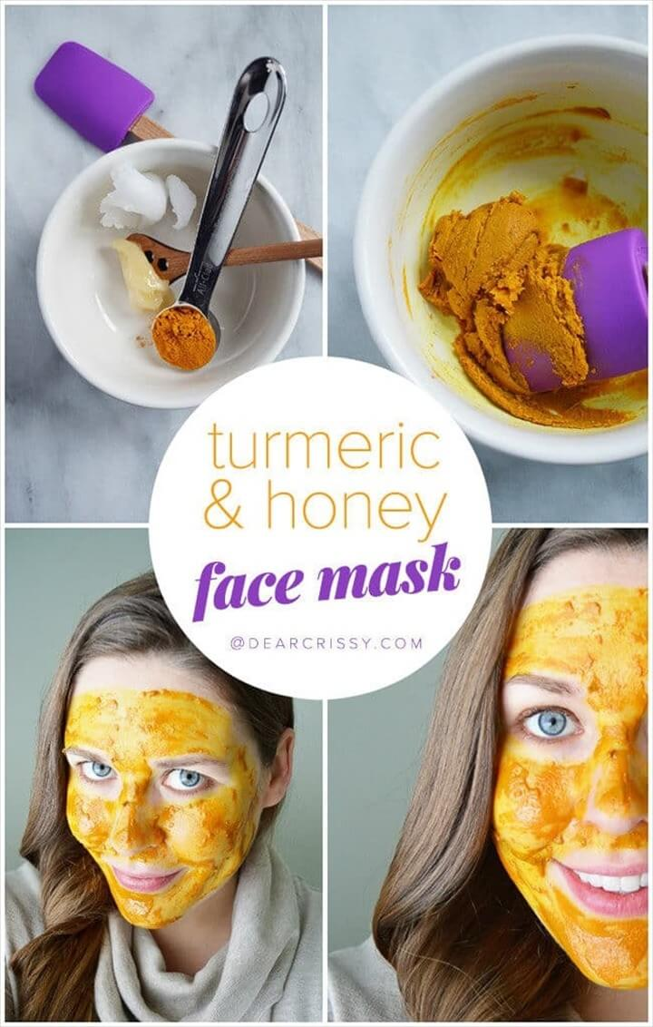 DIY Turmeric Honey Face Mask