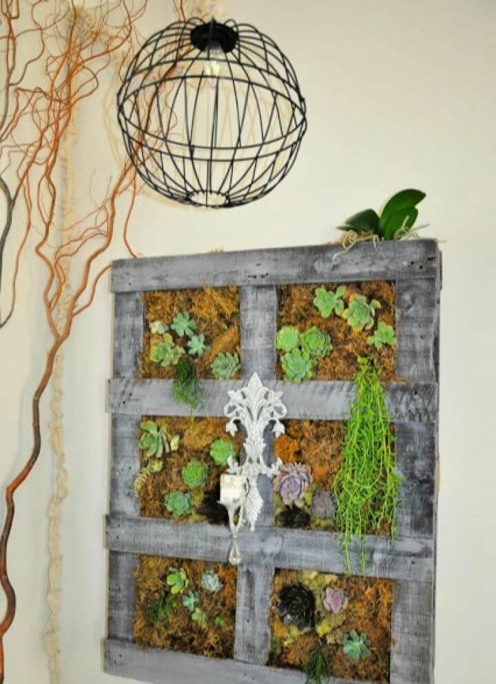 DIY Vertical Wood Pallet Garden Update