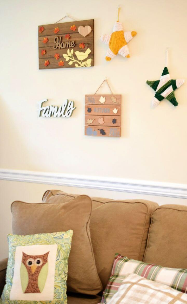 DIY Wood Pallet Fall Gallery Wall