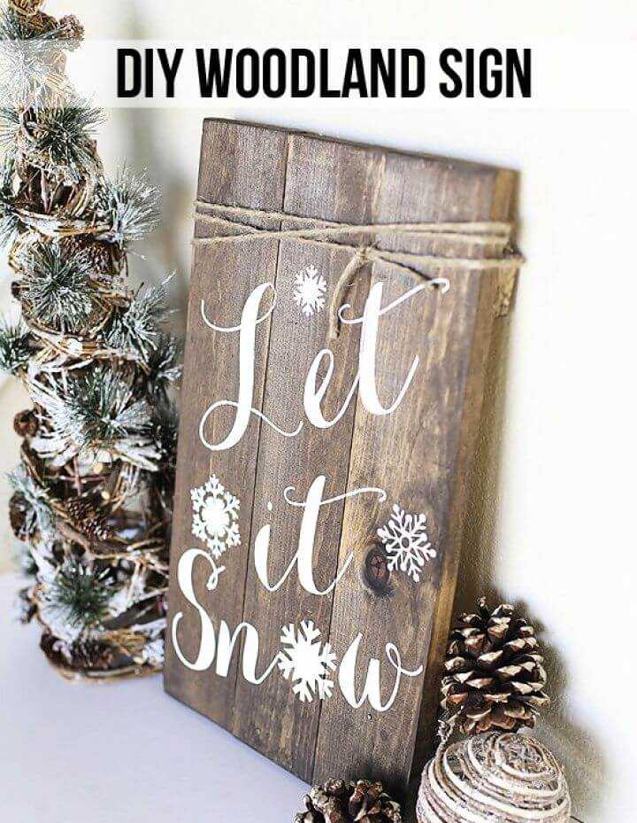 DIY Woodland Pallet Sign