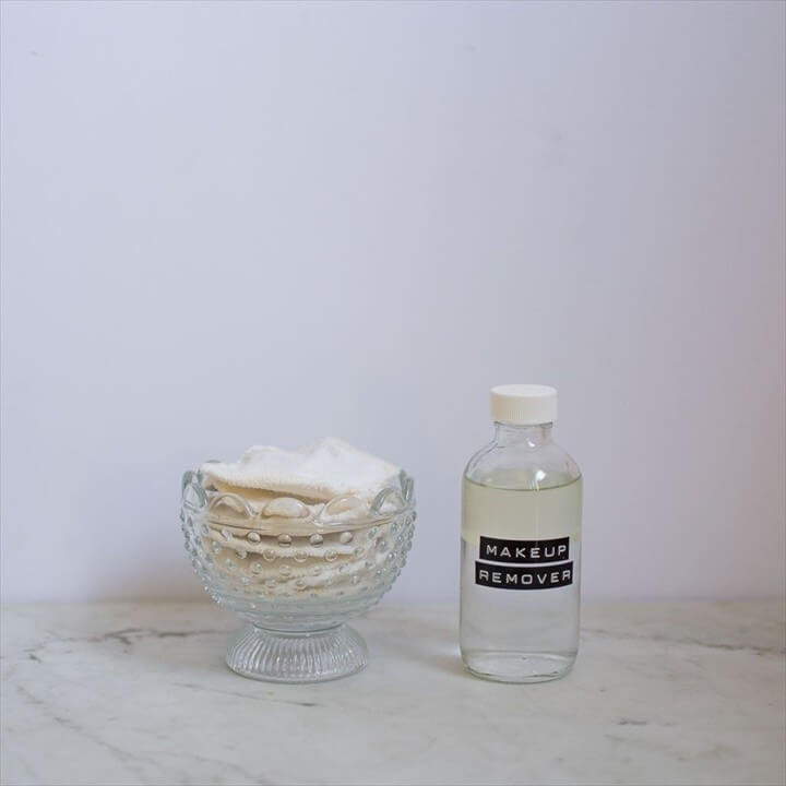 DIY Zero Waste Makeup Remover