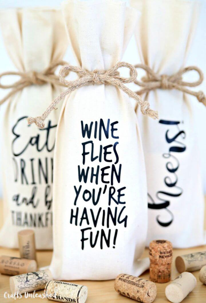 Decorate Your Own Wine Bottle Gift Bags