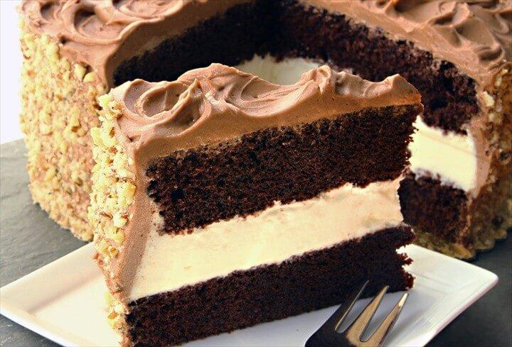 Dressels Chocolate Fudge Whipped Cream Cake