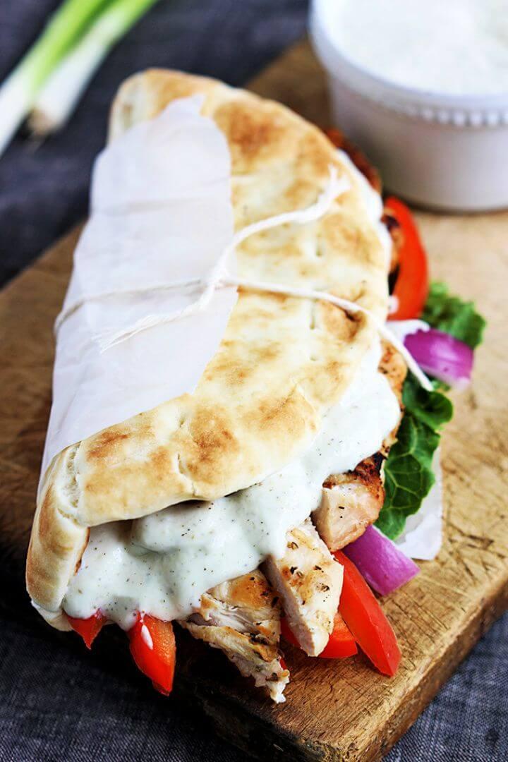 Easy Chicken Gyros Tzatziki Sauce