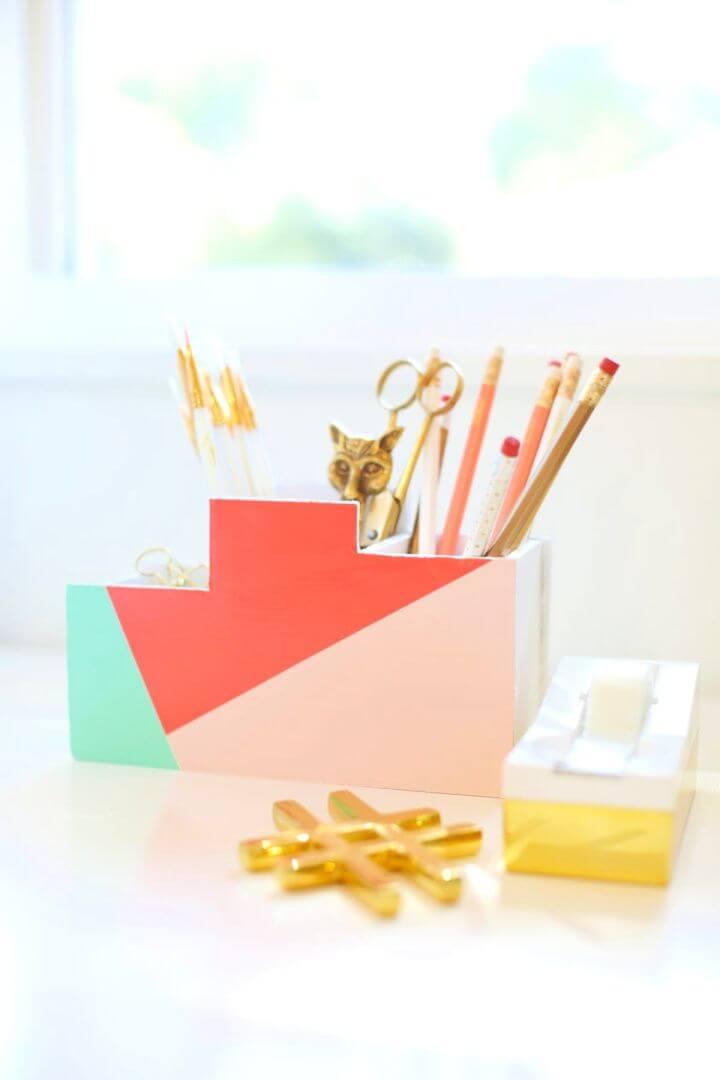 Easy DIY Back To School Desk Organizer