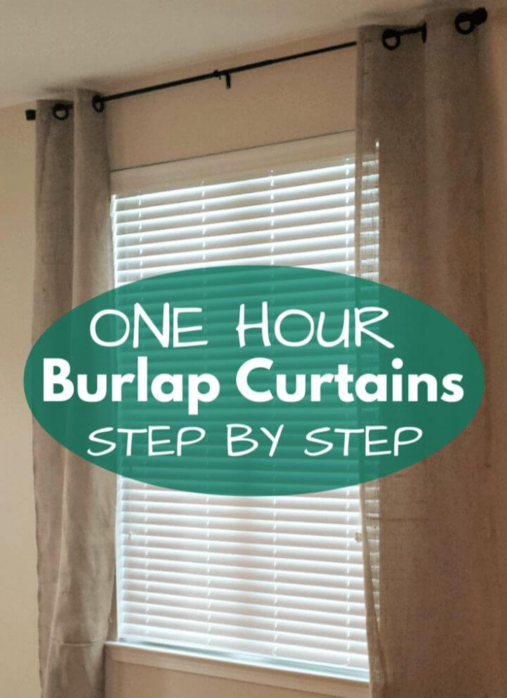 Easy DIY Burlap Curtains Tutorial