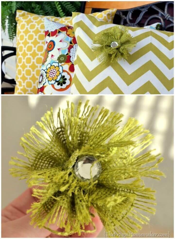 Easy DIY Burlap Rosette Tutorial