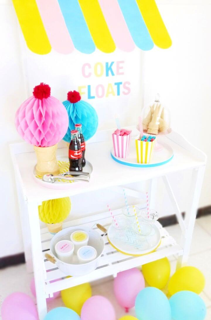 Easy DIY Ice Cream Stand Awning For Your Party