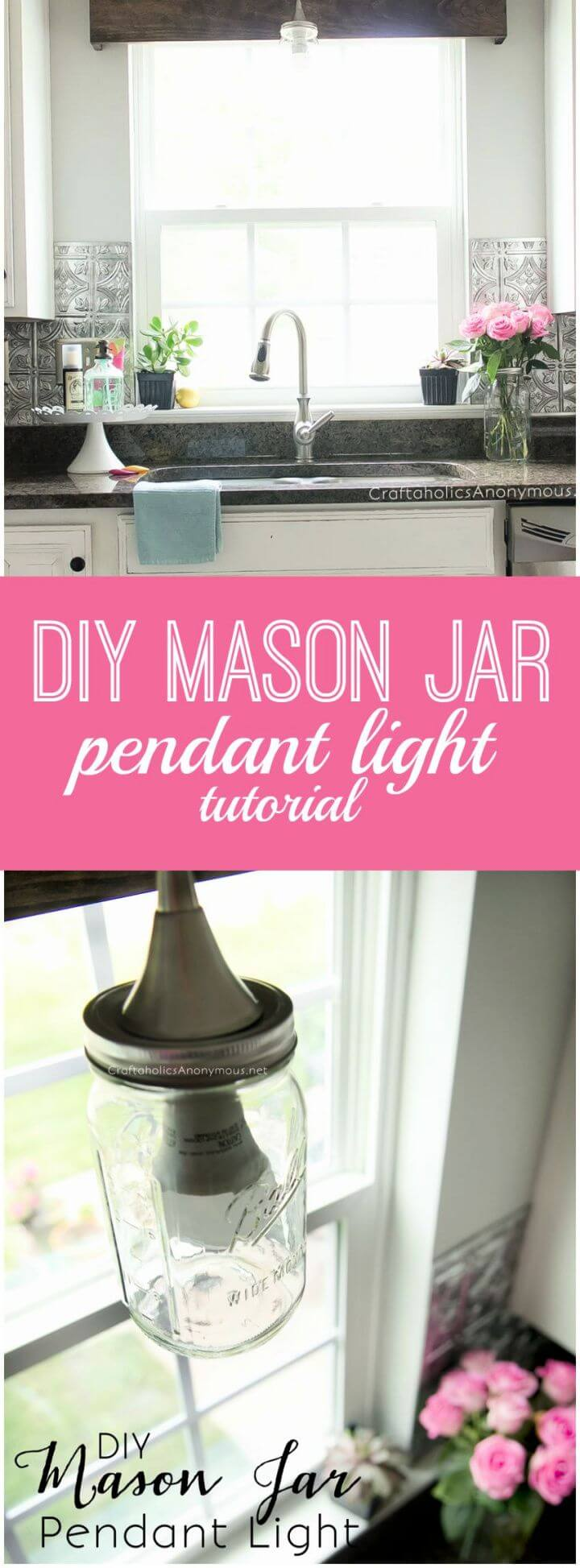 Easy DIY Mason Jar Pendant Light Tutorial