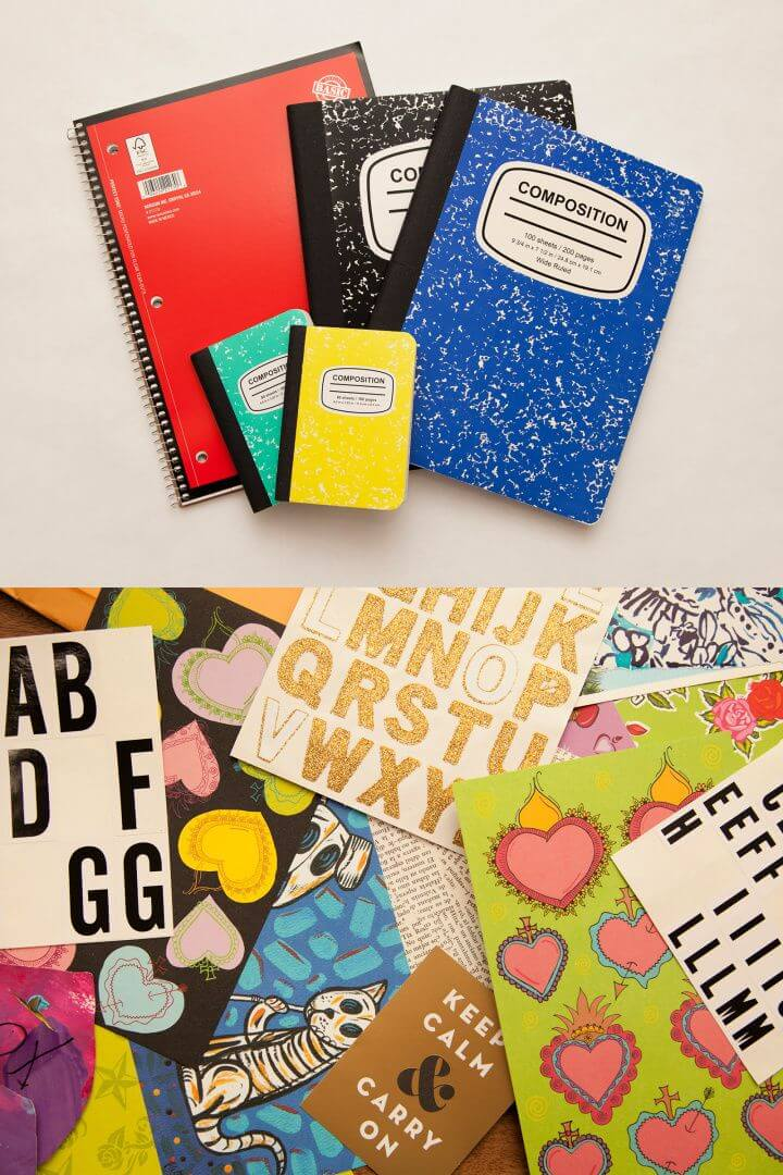 Easy DIY Notebooks for Back to School