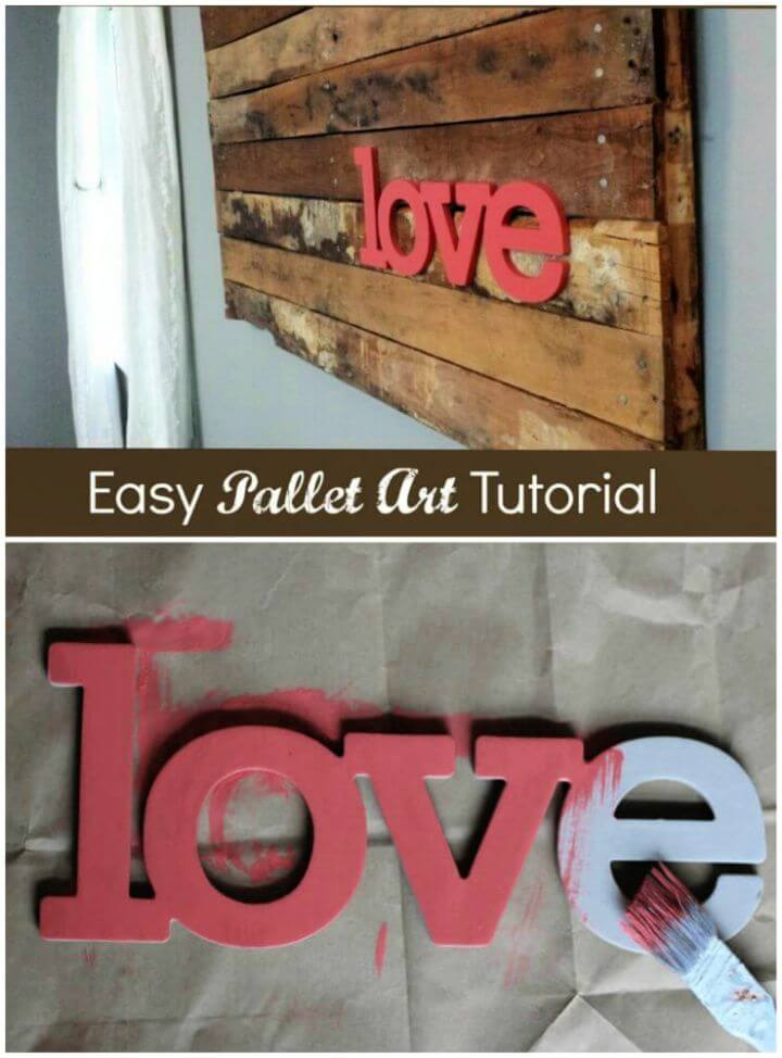 Easy DIY Wood Pallet Art
