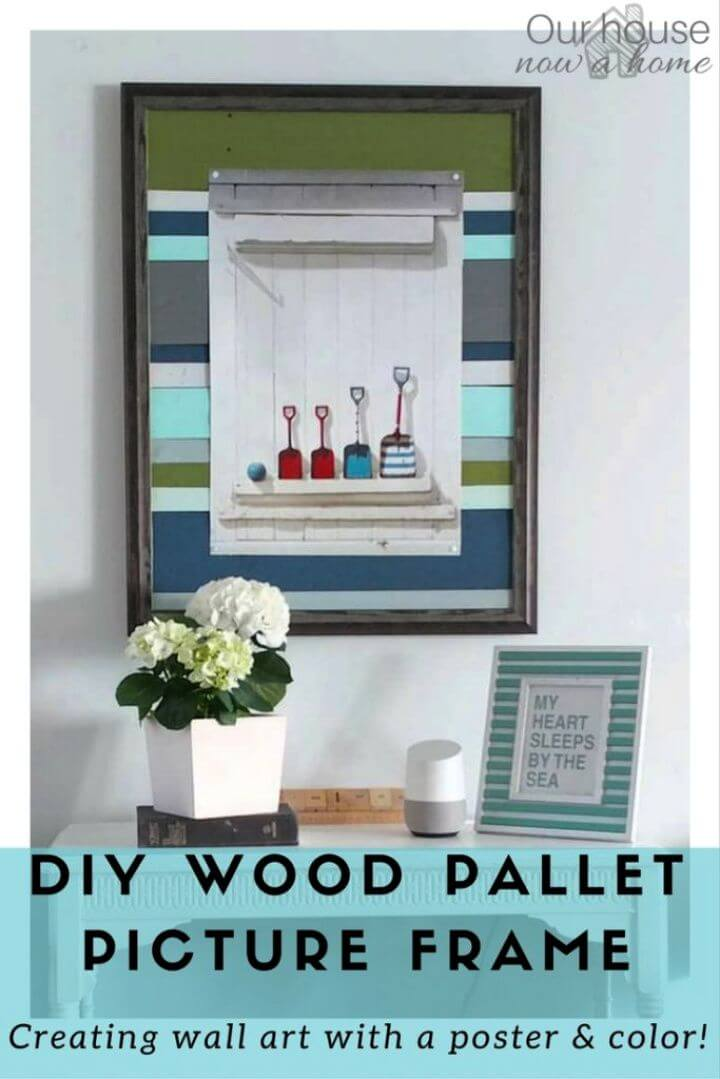 Easy DIY Wood Pallet Frame