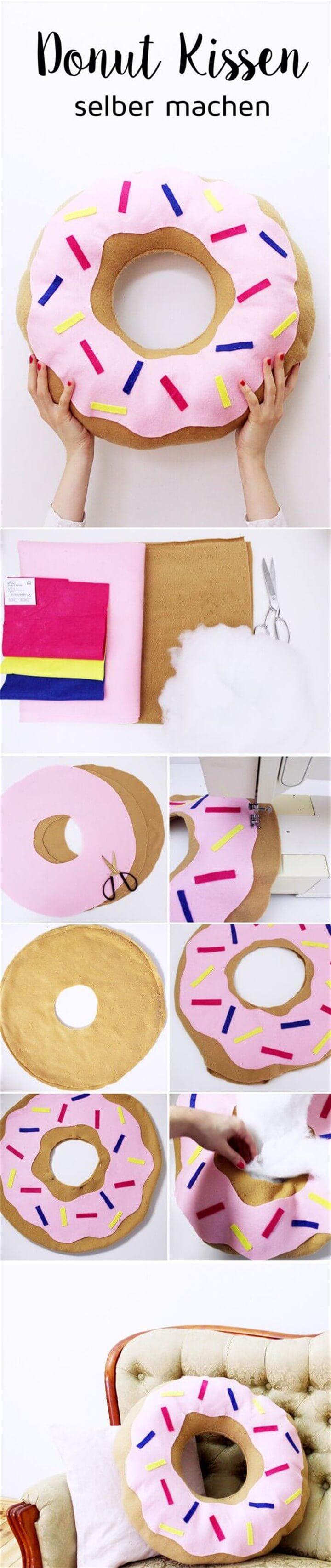 Easy To Make DIY Donut Pillows