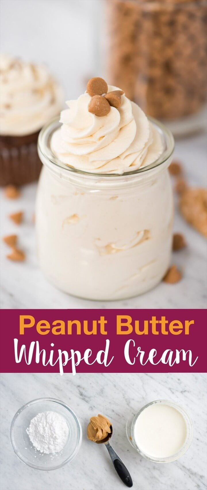 Easy To Make Peanut Butter Whipped Cream Frosting