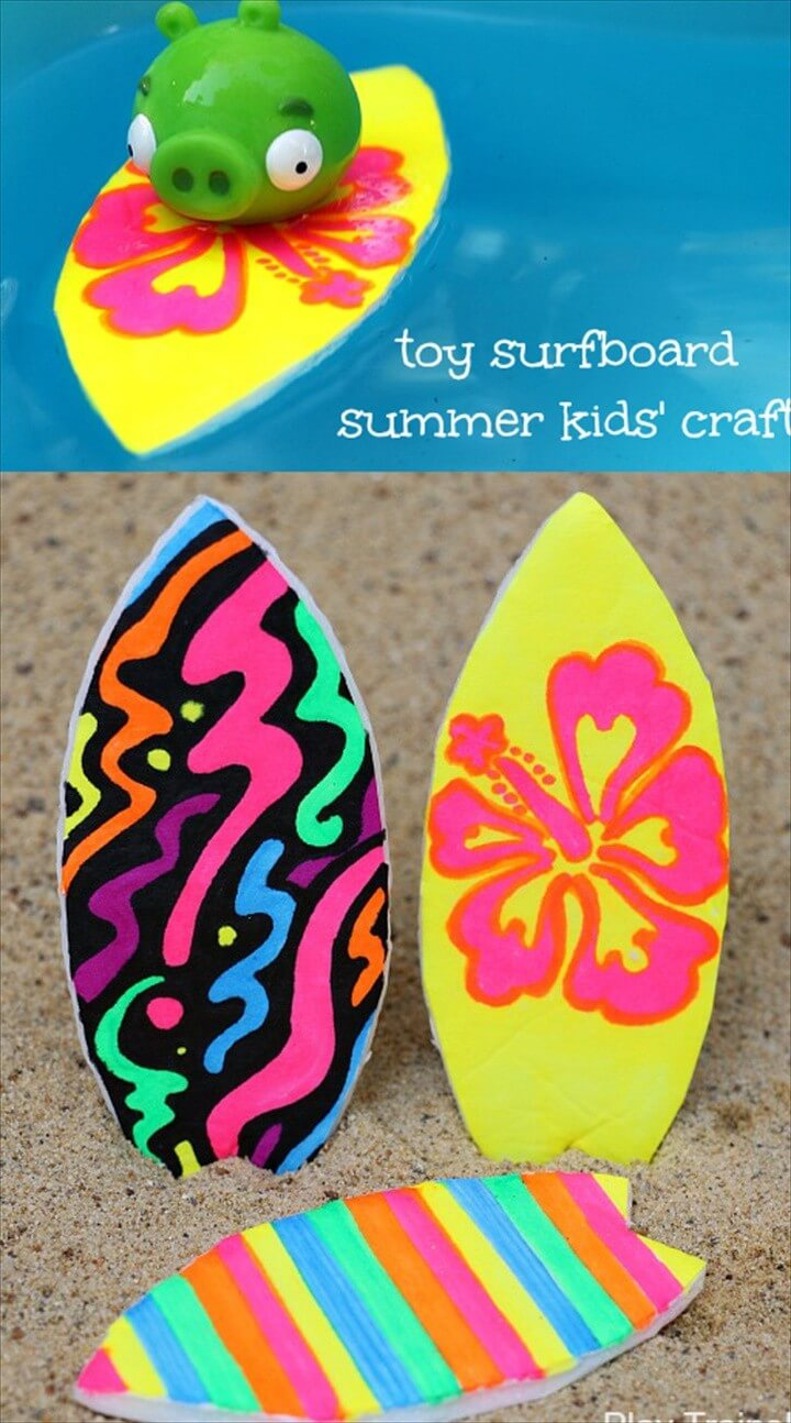 Easy To Make Toy Surfboard Craft For Kids
