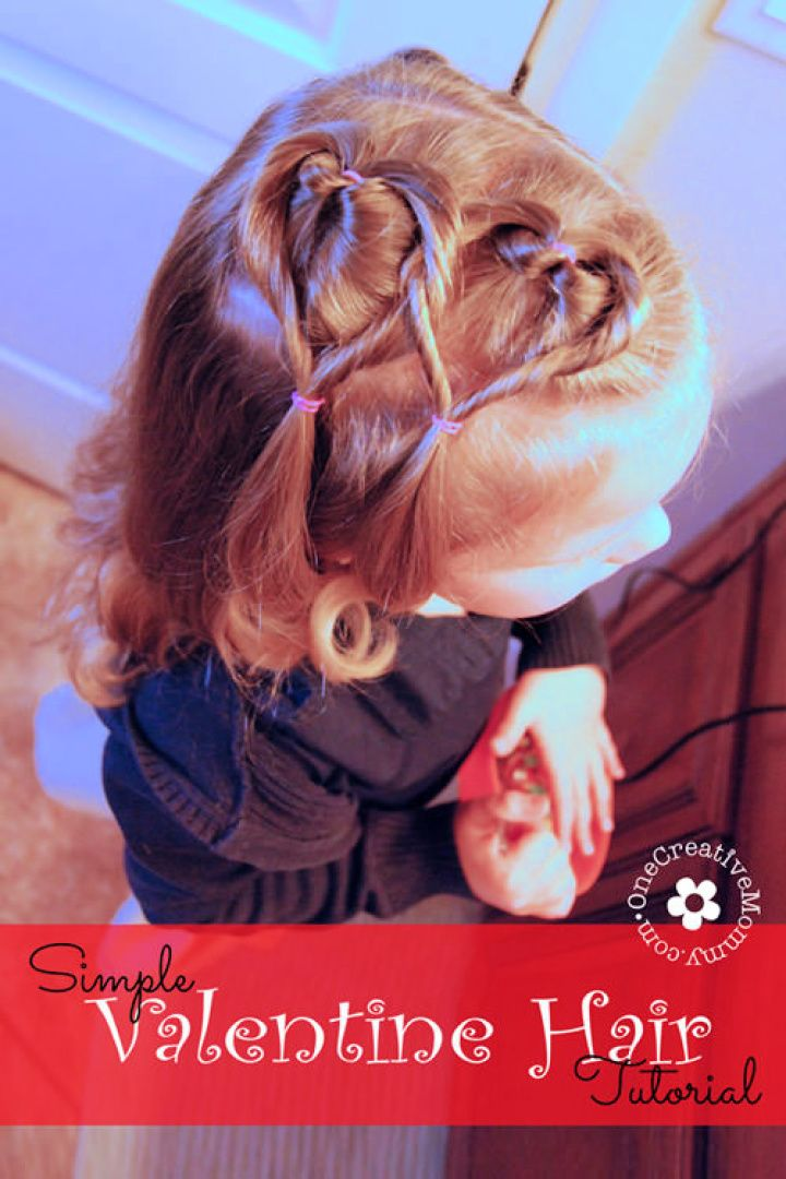 Easy Valentine Hair Style For Toddler Tutorial