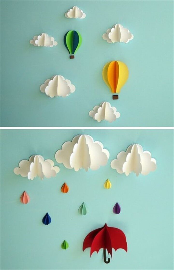 Extraordinary Smart DIY Paper Wall Decor That Will Color Your Life