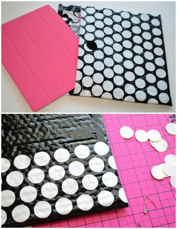 Fabric Lined Duct Tape Ipad Case