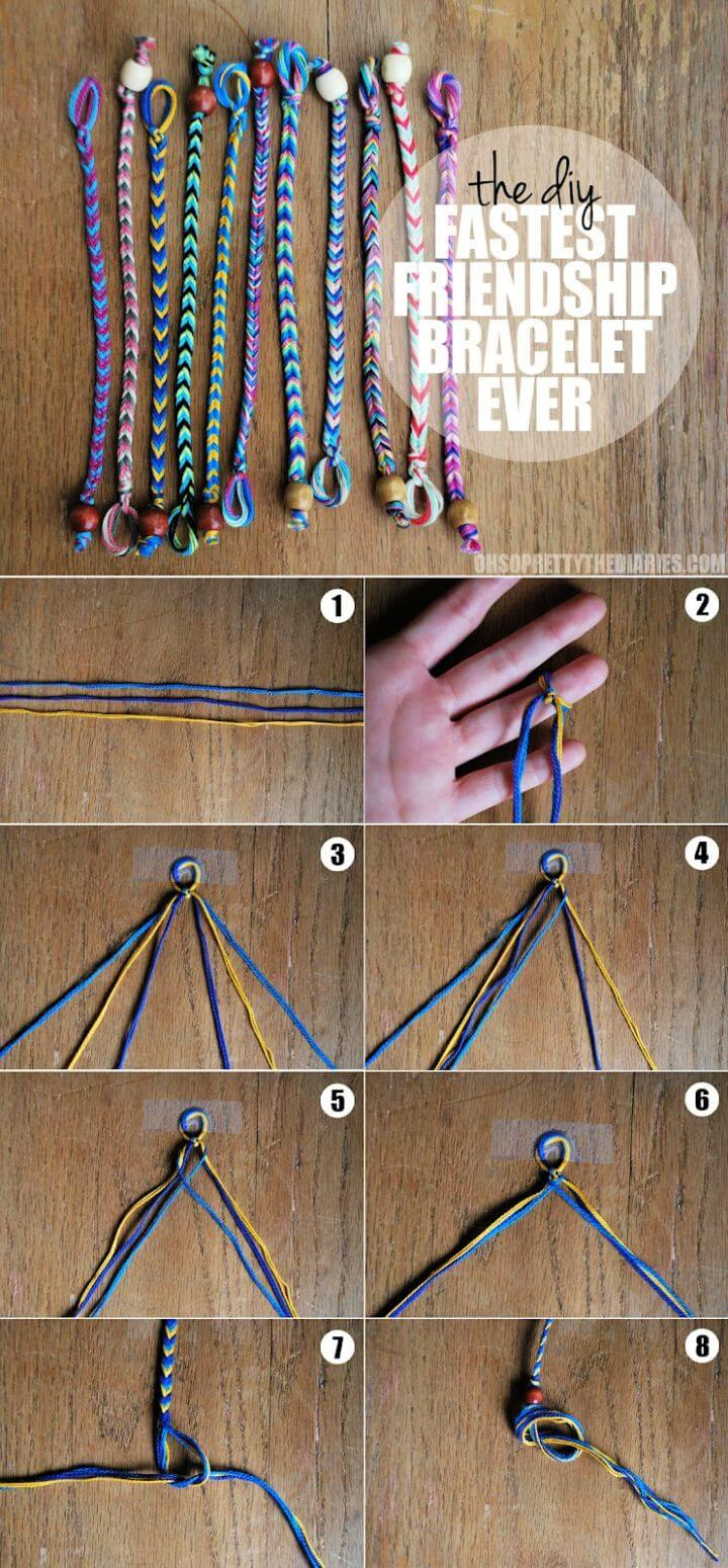 Fastest DIY Friendship Bracelet Ever