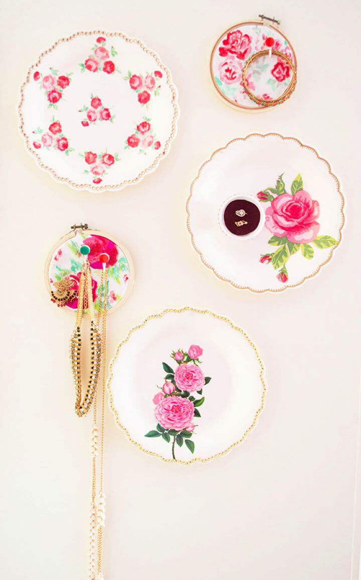 Faux Vintage China With Jewelry Display