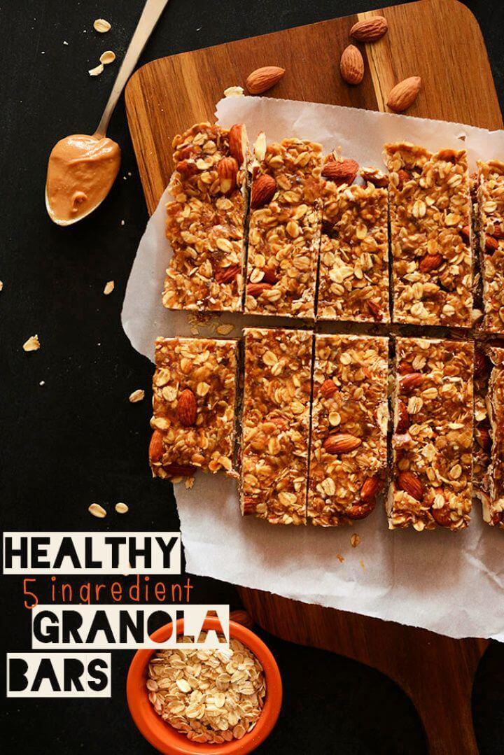 Five Ingredient Breakfast Granola Bars
