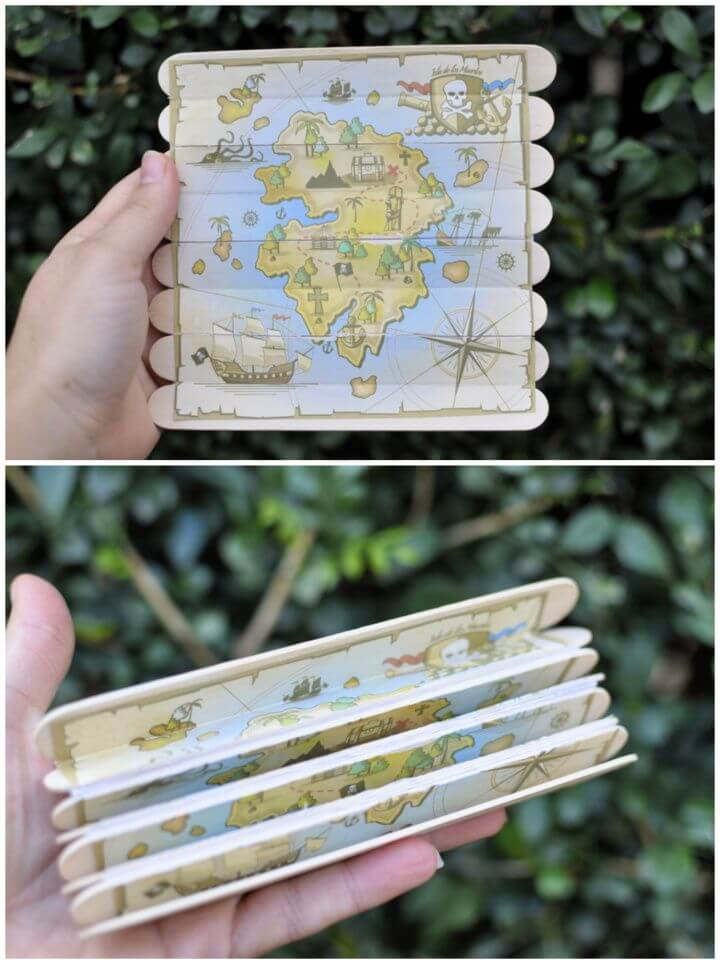Foldable Paddle Pop Stick Treasure Map