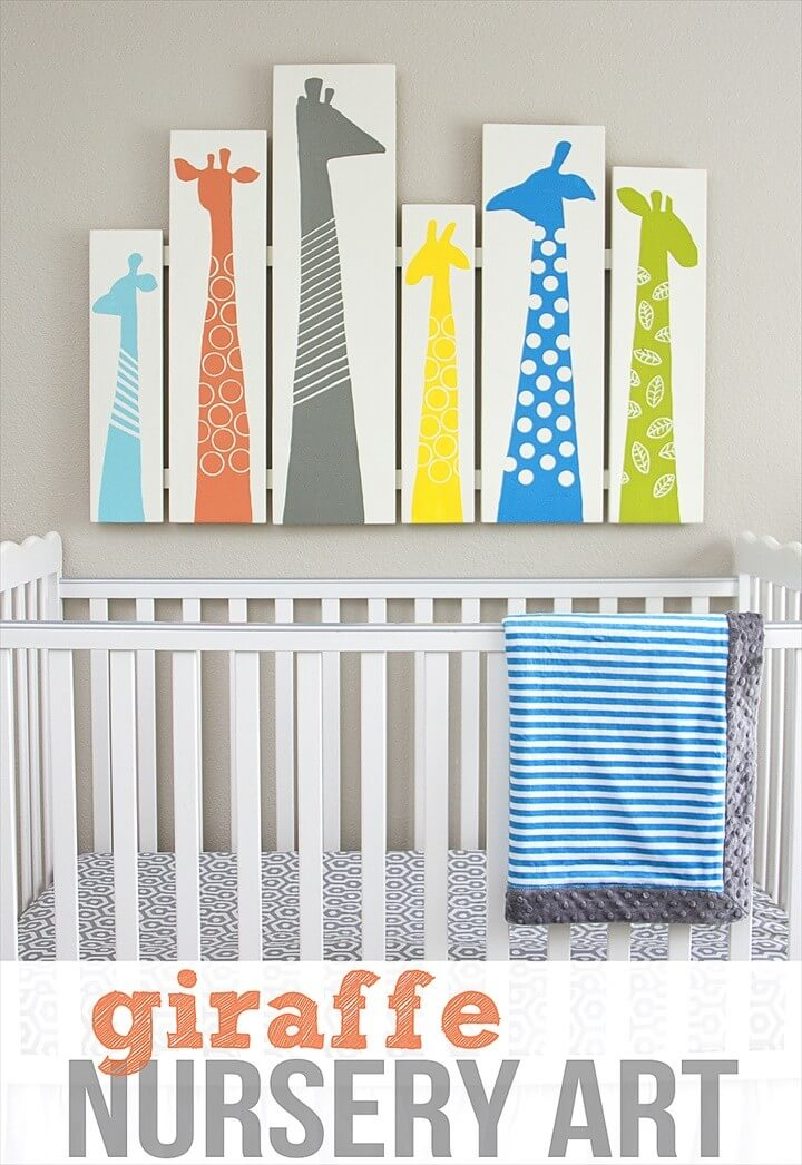 Giraffe Nursery Art Sweet and Fun Ideas