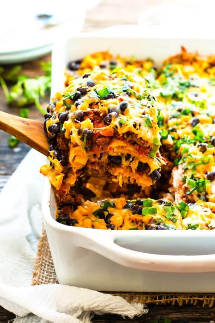 Ground Turkey Mexican Lasagna Recipe