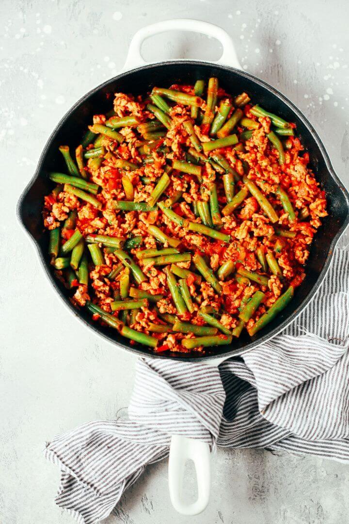 Ground Turkey Skillet with Green Beans Recipe