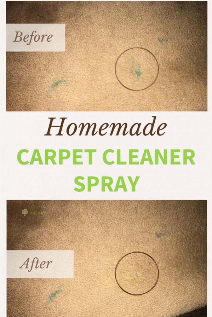 Homemade Carpet Cleaner Solution Spray