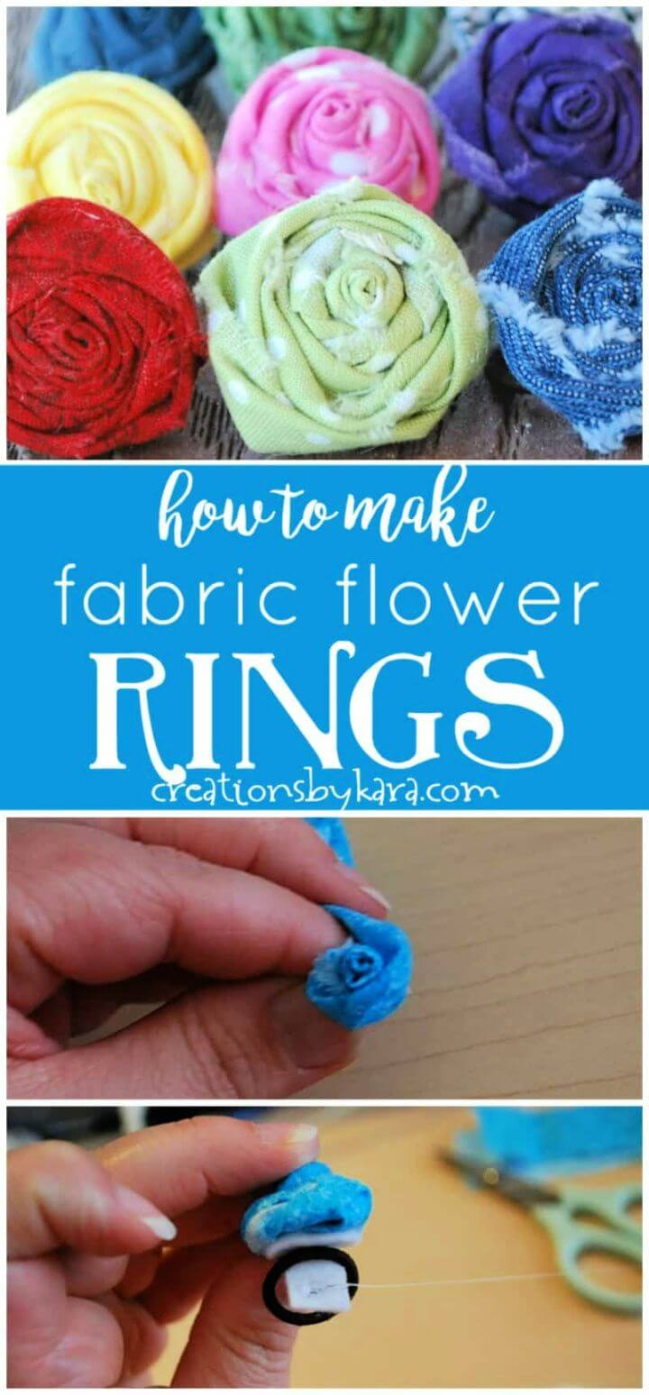 Homemade Gifts Fabric Flower Rings